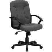 Flash Furniture Fabric Computer and Desk Office Chair, Fixed Arms, Gray (GOST6GYFAB)