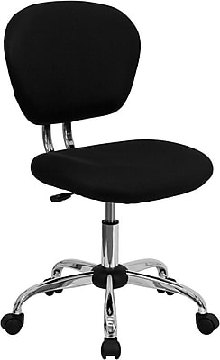 Flash Furniture Fabric Computer and Desk Office Chair, Armless, Black (H2376FBK)