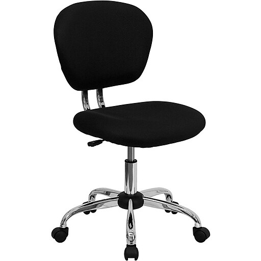 Flash Furniture Mid Back Mesh Task Chair With Chrome Base, Black