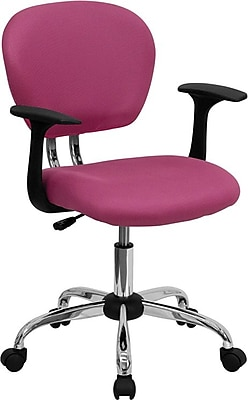 Flash Furniture Fabric Computer And Desk Office Chair, Fixed Arms, Pink  (H2376FPINKARMS) | Staples