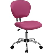 Flash Furniture Fabric Computer and Desk Office Chair, Armless, Pink (H2376FPINK)