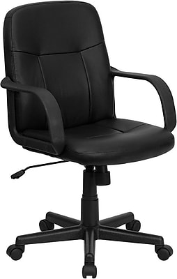 Flash Furniture Fabric Executive Office Chair, Fixed Arms, Black (H8020)