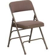 Flash Furniture HERCULES Series Curved Triple Braced & Quad Hinged Fabric Upholstered Metal Folding Chair, Beige, 20/Pack