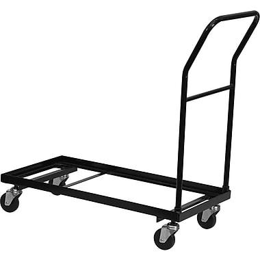 Flash Furniture – Chariot pour chaises pliantes, noir