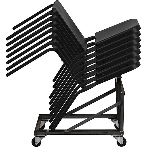 Flash Furniture Hercules Series High Density Stackable Melody Band Music Chair Black 12 Pack Staples