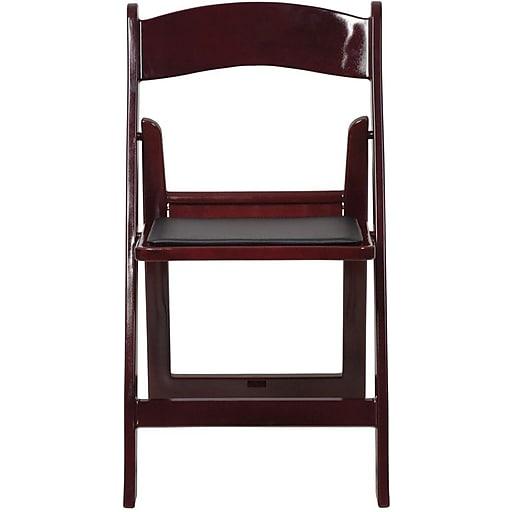Flash Furniture HERCULES™ Vinyl Armless Folding Chair, Red Mahogany, 40/Pack