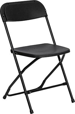 Flash Furniture HERCULES Series 800 lb. Capacity Plastic Folding Chair, Black, 120/Pack