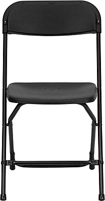 Flash Furniture HERCULES Series 800 lb. Capacity Plastic Folding Chair, Black, 32/Pack