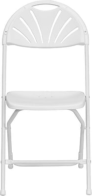 Flash Furniture HERCULES Series 800 lb. Capacity Plastic Fan Back Folding Chair, White, 24/Pack 201268