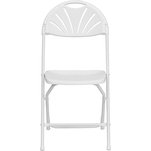 Flash Furniture HERCULES™ Plastic Armless Folding Chair, White, 8/Pack