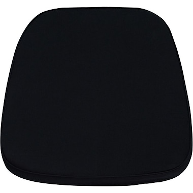 Flash Furniture Soft Fabric Chiavari Chair Cushion, Black