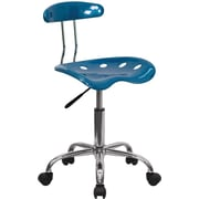 Flash Furniture Polymer Plastic Computer and Desk Office Chair, Armless, Bright Blue (LF214BRIBLU)