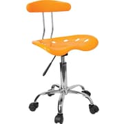 Flash Furniture Tractor-Style Plastic Computer Task Chair, Armless, Yellow