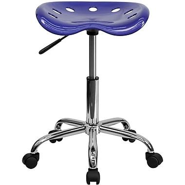 Flash Furniture – Tabouret brillant avec siège de type tracteur, 25,75 po, bleu foncé (LF214ADEEPBLUE)
