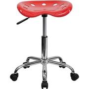 Flash Furniture – Tabouret brillant avec siège de type tracteur, 25,75 po, rouge (LF214ARED)