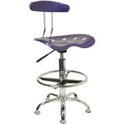 Flash Furniture – Tabouret de dessinateur éclatant avec siège tracteur, bleu foncé
