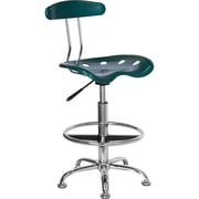 Flash Furniture Vibrant Drafting Stool with Tractor Seat, Green