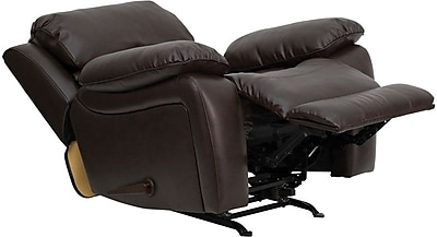 Flash Furniture Leather Rocker Recliner, Brown 201315