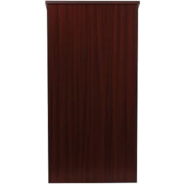 Flash Furniture Laminate Stand Up Lectern, Mahogany