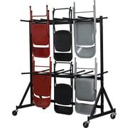 Flash Furniture – Chariot pour chaises pliantes suspendues, noir