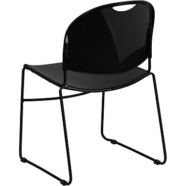 Flash Furniture Hercules Series 880 lb. Capacity High Density, Ultra Compact Stack Chair with Black Frame, Black, 15/Pack
