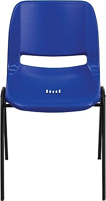 Flash Furniture HERCULES Series 880 lb. Capacity Ergonomic Shell Stack Chair, Blue, 60/Pack