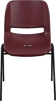 Flash Furniture HERCULES Series 880 lb. Capacity Ergonomic Shell Stack Chair, Burgundy, 60/Pack
