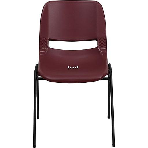 Flash Furniture HERCULES Series 880 lb. Capacity Ergonomic Shell Stack Chair, Burgundy, 30/Pack