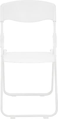Flash Furniture HERCULES Series 880 lb. Capacity Heavy Duty Plastic Folding Chair, White, 72/Pack 201440