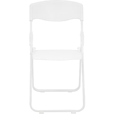 Flash Furniture Hercules Series 880 lb. Capacity Heavy Duty Plastic Folding Chair, White, 24/Pack