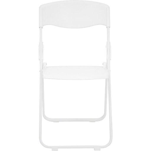 Flash Furniture HERCULES Series 880 lb. Capacity Heavy Duty Plastic Folding Chair, White, 36/Pack