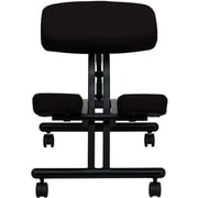 Flash Furniture Ergonomic Kneeler Fabric Kneeling Office Chair, Armless, Black (WL1420)