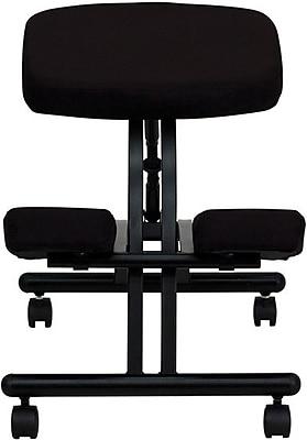 Flash Furniture Ergonomic Kneeler Fabric Kneeling Office Chair, Armless, Black (WL1420)