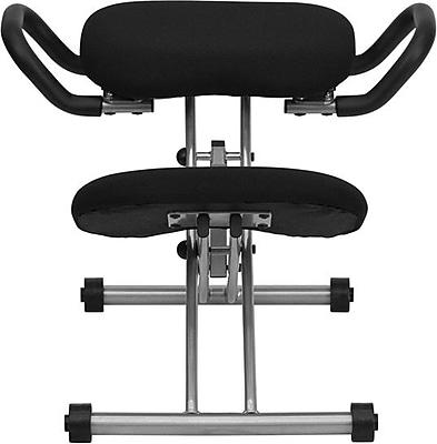 Flash Furniture Kneeling Fabric Kneeling Office Chair, Armless, Black (WL1429)