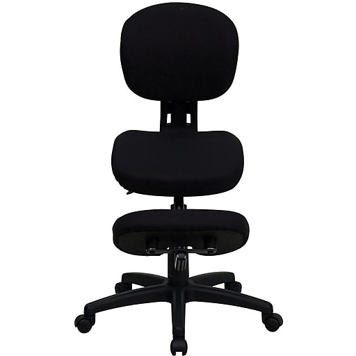 Flash Furniture Kneeling Posture Fabric Kneeling Office Chair, Armless, Black (WL1430)