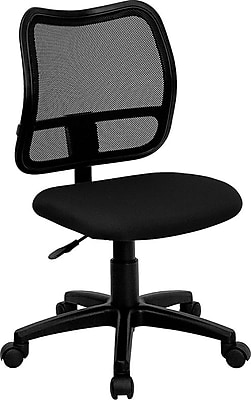 Flash Furniture Fabric Computer and Desk Office Chair, Armless, Black (WLA277BK)