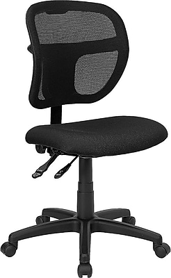 Flash Furniture Fabric Computer and Desk Office Chair, Armless, Black (WLA7671SYGBK) 201479