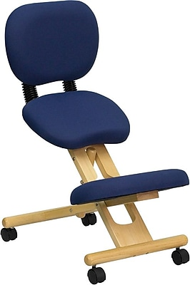 Flash Furniture Kneeling Posture Fabric Kneeling Office Chair, Armless, Blue (WLSB310)