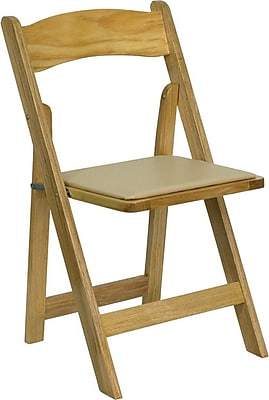 Flash Furniture 4XF2903NATURAL Wood Folding Chair, Beige