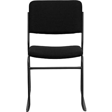 Flash Furniture Hercules Series 1500 lb. Capacity High Density Fabric Stacking Chair with Sled Base, Black, 30/Pack
