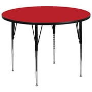 Flash Furniture 48'' Round Activity Table with 1.25'' Thick High Pressure Laminate Top and Standard Height Adjustable Legs, Red