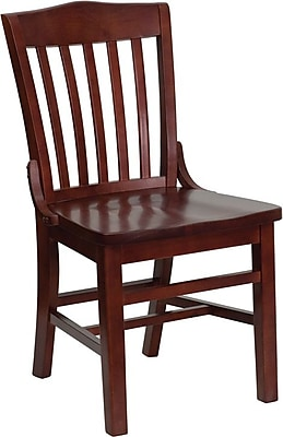 Flash Furniture HERCULES Series School House Back Wooden Restaurant Chair, Mahogany, 4/Pack 201635
