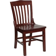 Flash Furniture HERCULES Series School House Back Wooden Restaurant Chair, Mahogany, 4/Pack