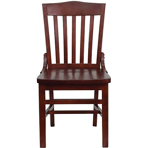 Flash Furniture HERCULES™ Wooden School House Back Restaurant Chair, Mahogany, 8/Pack