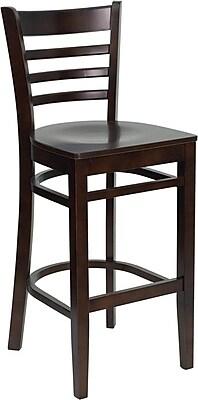 Flash Furniture xU-DGW0005BARLAD-WAL-GG Bar Stool, Walnut