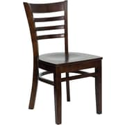 Flash Furniture HERCULES Series Walnut Wood Ladder Back Restaurant Chair, 2/Pack