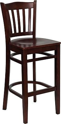 Flash Furniture HERCULES Series Mahogany Wood Vertical Slat Back Restaurant Bar Stool