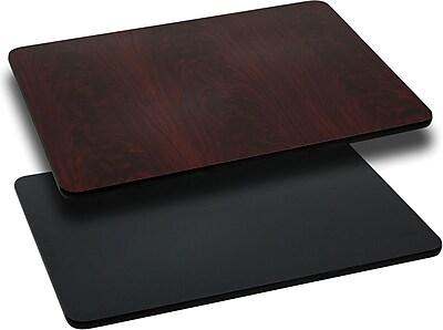 Flash Furniture 42'' Rectangular Laminate Table Top, Black/Mahogany (XUMBT2442)