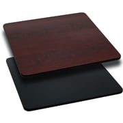 Flash Furniture 30'' Square Laminate Table Top, Black/Mahogany (XUMBT3030)