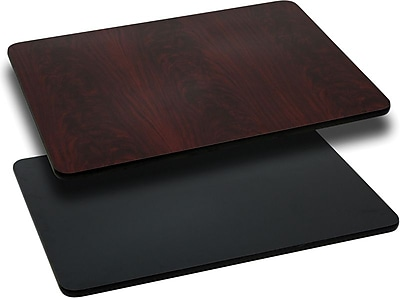 Flash Furniture 42'' Rectangular Laminate Table Top, Black/Mahogany (XUMBT3042)